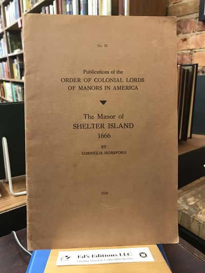 Order/Col. Lords of Manors, 1934-01-01. PAPERBACK. Good. 1934. Brown paper wraps. Minor wear. Clean,...