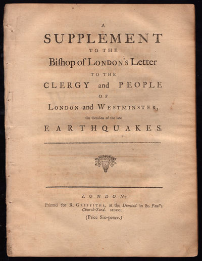 London: R. Griffiths, 1750. 4to. 24, pp. First edition. This reply to Thomas Sherlock's