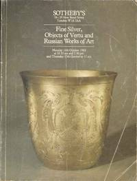 Fine Silver, Objects of Vertu and Russian Works of Art.  Monday 10th October 1983