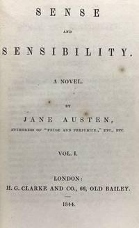 [Austen, Jane] Sense and Sensibility. A Novel