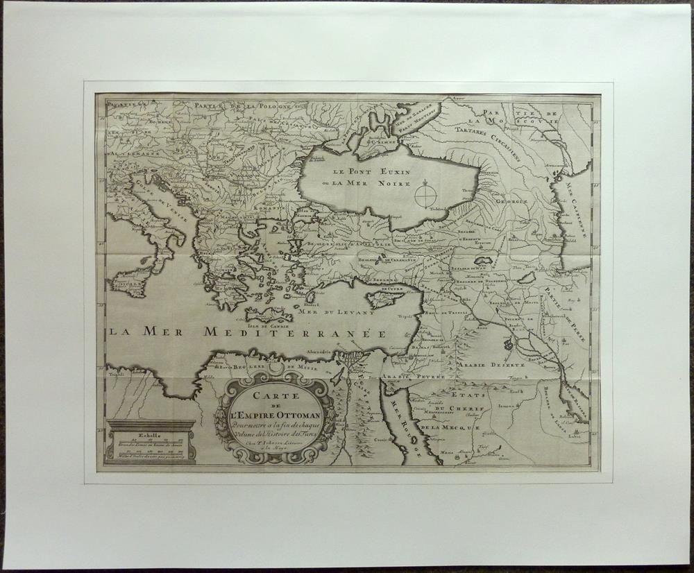 Carte de l 39 empire ottoman pour mettre a la fin de chaque volume de l 39 histoire des turcs - La carte de l empire ottoman ...
