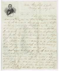 William Henry Harrison illustrated stampless letter sheet 1841