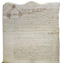 Manuscript indenture from 1670