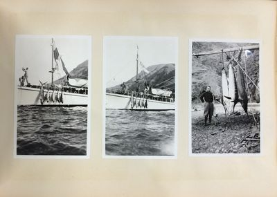Very Good. From the estate of Zane Grey, photo album depicting images of New Zealand and Tahiti take...