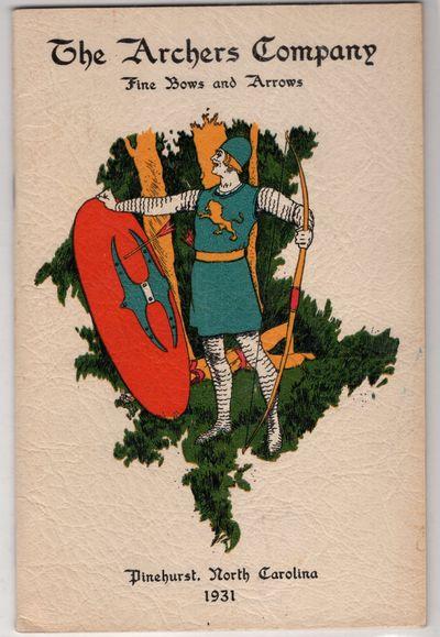 Pinehurst, North Carolina : The Archers Co. , 1931. Staplebound. Very good. 32p. in chromolithograph...