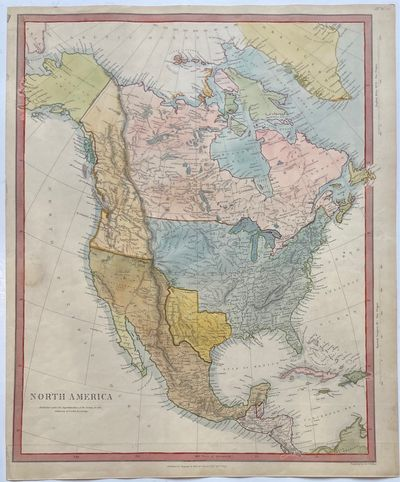 London: Chapman and Hall, 1844. unbound. Map. Engraving with hand coloring. Sheet measures 16