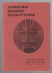 image of African Negro Sculpture:  University Museum Bulletin (Vol 21, No. 4)