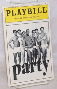 image of Playbill for Party by David Dillon: Douglas Fairbanks Theater [signed]