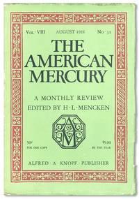 The American Mercury, Vol. VIII, no. 32, August, 1926