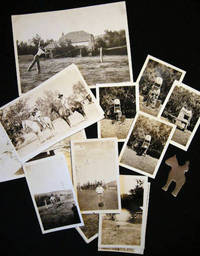 Circa 1930 Group of Photographs from North Dakota Including Matt Crowley Ranch, Buchli Ranch, Livestock and Horses and Several Shots of a Homemade Miniature Covered Wagon