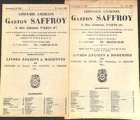 Catalogue 252 & 258/1958/60: Livres anciens et modernes sur l'histoire de  France, les...