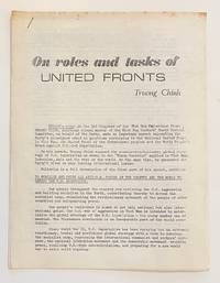image of On roles and tasks of United Fronts