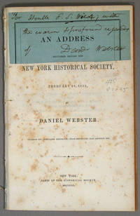 ADDRESS DELIVERED BEFORE THE NEW YORK HISTORICAL SOCIETY, FEBRUARY 23