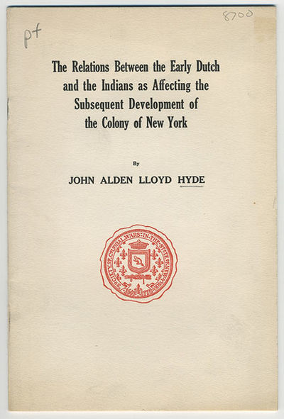 New Haven: The Tuttle, Morehouse & Taylor Company, 1924. 8vo. 16 pp. Published under the authority o...
