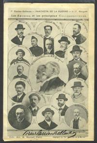 image of Panthéon de la Guerre. Les Auteurs et les Principaux Collaborateurs. Advertising card signed by Carrier-Belleuse