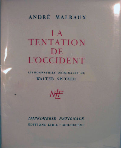 Paris: Editions Lidis, 1961. First edition thus. Paperback. Orig. white wrappers printed in red and ...