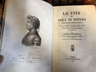Forli: Presso Luigi Bordandini, 1828. Hardcover. Octavo, , 409, pages; VG: bound in quarter calf, ma...