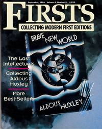 """image of Collecting Aldous Huxley : As Featured in """"Firsts Magazine"""" september, 1994"""