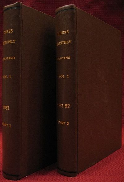 One volume in two parts. viii+308 pages with color frontispiece chess problem, black and white front...