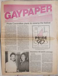 image of Gaypaper [aka Baltimore Gay Paper] vol. 11, #14, Friday April 6, 1990: Pride Committee plans to revamp the Festival