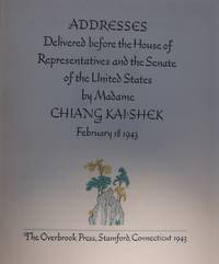 Addresses by Madame CHIANG KAI-SHEK, February 18 1943