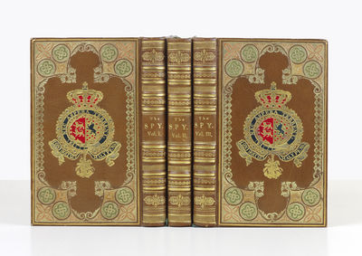 Three vols. 12mo, bound in cont. German brown morocco for Duke William of Brunswick (1806-84), with ...