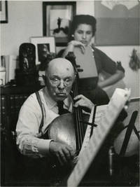 image of Pablo Casals (Original double weight photograph circa late-1950s)