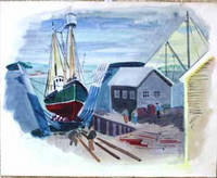 image of Fishing Boat at Dock, Boothbay, Maine