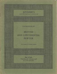Catalogue of British and Continental Pewter.  Thursday, 9th February 1978