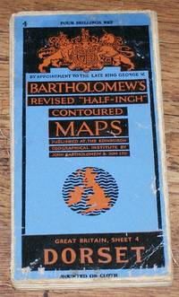 "Dorset - Bartholomew's Revised ""Half-Inch"" Contoured Maps, Great Britain Sheet 4"
