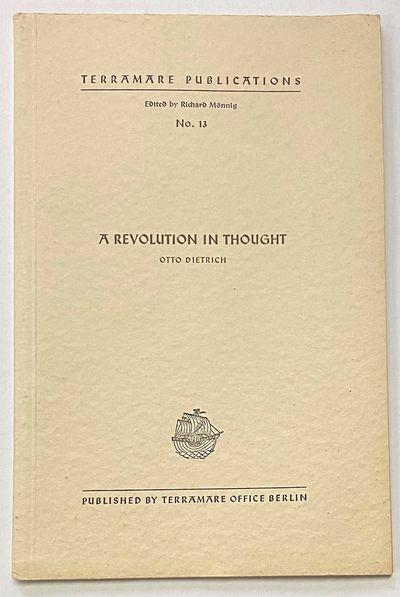 Berlin: Terramare Office, 1939. 30p., staplebound booklet, very good. Terramare Publications, no. 13...