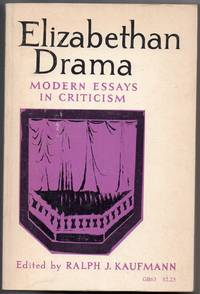 image of Elizabethan Drama Modern Essays in Criticism