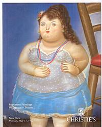 image of Christie's Important Paintings and Drawings by Fernando Botero: New York  Monday, May 17, 1993