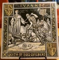 image of IVANHOE (Original circa 1878 decorative tile depicting a scene from Ivanhoe)