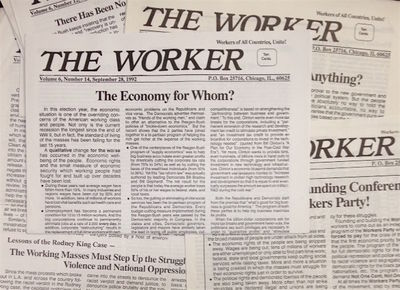 Chicago: Marxist-Leninist Workers Organization; Workers Party, 1989. Eleven issues of the publicatio...