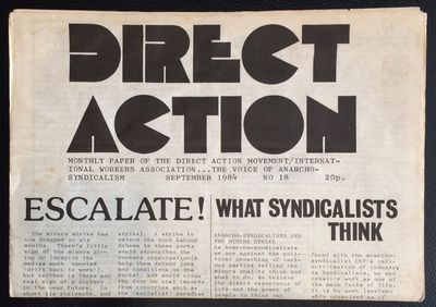 Leeds: Direct Action Movement, 1984. 8p., tabloid format, mild handling wear and soil. Includes cove...