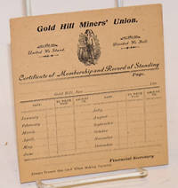 image of Certificate of Membership and Record of Standing