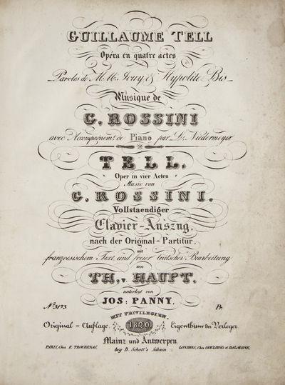 Mainz und Antwerpen: B. Schott's Söhnen. , 1829. Folio. Half contemporary dark green morocco with g...
