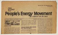 """image of From """"No Nukes"""" to a People's Energy Movement: a strategy for the 1980s. Special June 1980 Dandelion issue"""