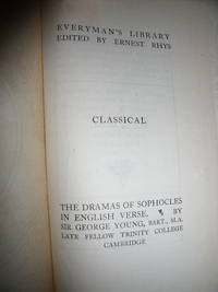 The Dramas of Sophocles in English Verse