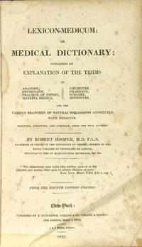 Lexicon Medicum by Hooper, Robert