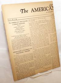 The American spectator: a literary newspaper, vol. I, no 8, June, 1933