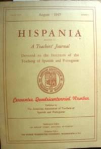 image of Hispania... Cervantes Quadricentennial Number. Vol. XXX no. 3, August 1947.