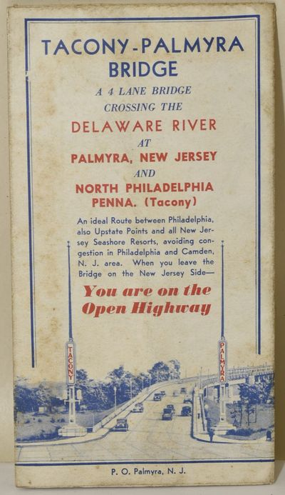[, 1929. Folding map, printed in blue and red. For the bridge construction in 1929, connecting New J...