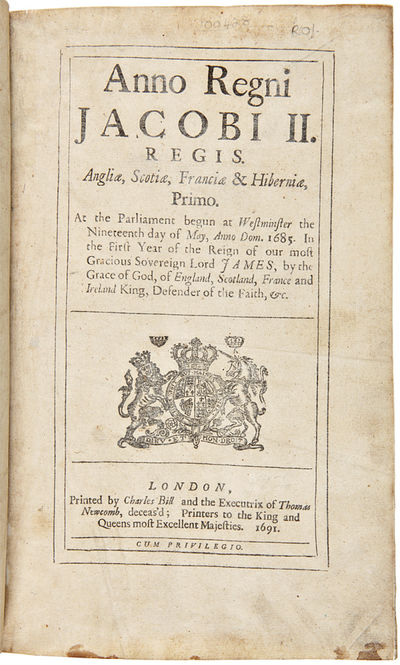 London, 1692. Various paginations. Small folio. Later suede, gilt leather label. Corners rubbed, boa...