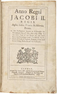 AN ACT DECLARING THE RIGHTS AND LIBERTIES OF THE SUBJECT, AND SETTLING THE SUCCESSION OF THE CROWN. [bound in:] [SAMMELBAND OF EIGHTY PARLIAMENTARY ACTS]