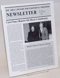 Bay Area Lawyers for Individual Freedom Newsletter: vol. 4, #1, June/July 1986; Carol Vance reports on Meese commission