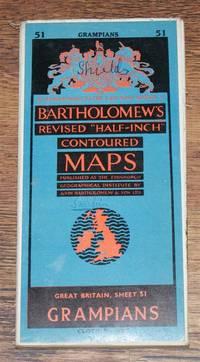 "Grampians - Bartholomew's Revised ""Half-Inch"" Contoured Maps, Great Britain Sheet 51"