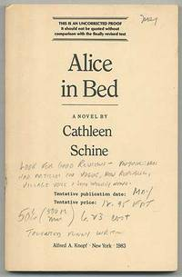 New York: Alfred A. Knopf, 1983. Softcover. Fine. First edition. Uncorrected Proof. Back corner just...
