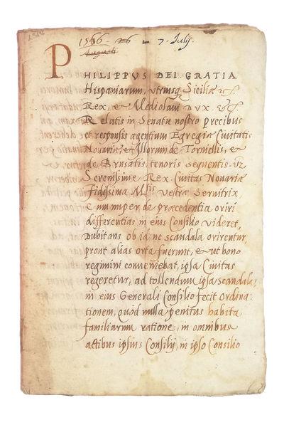 Manuscript on paper.